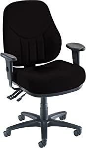 Lorell High-Back Multi-Task Chair, 26-7/8 by 26 by 39-Inch to 42-1/2-Inch, Black
