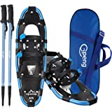 Gpeng 3-in-1 Xtreme Lightweight Terrain Snowshoes for Men Women Youth Kids, Light Weight Aluminum Alloy Terrain Snow Shoes wi