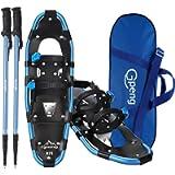Gpeng 3-in-1 Xtreme Lightweight Terrain Snowshoes for Men Women Youth Kids, Light Weight Aluminum Alloy Terrain Snow…
