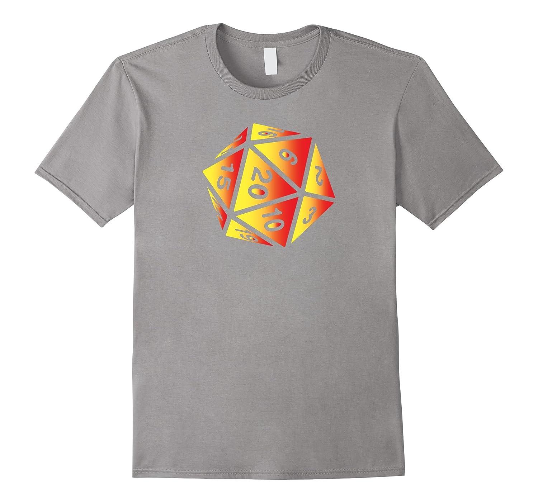 d31a9b369 d20 Dice RPG T-Shirt | Gradient Design-FL - Sunflowershirt