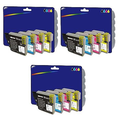 3 Juegos de Cartuchos de Tinta XL no Originales para Brother DCP-J125, J140W, J315W, J515W, MFC-J220, J265W, J410, J415W