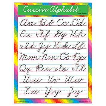 Amazon.com: TREND enterprises, Inc. Cursive Alphabet Zaner-Bloser ...