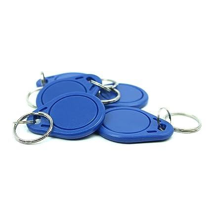 5 NFC Tag Pegatina, 40 x 32mm, NXP NFC Chip, 180 byte, azul ...