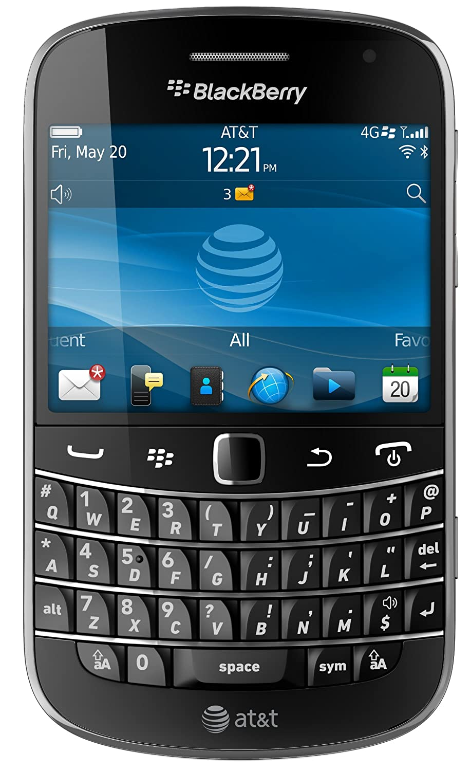 Amazon blackberry bold 9900 phone att cell phones accessories reheart Images