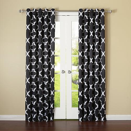 Best Home Fashion Room Darkening Blackout Moroccan Print Curtains