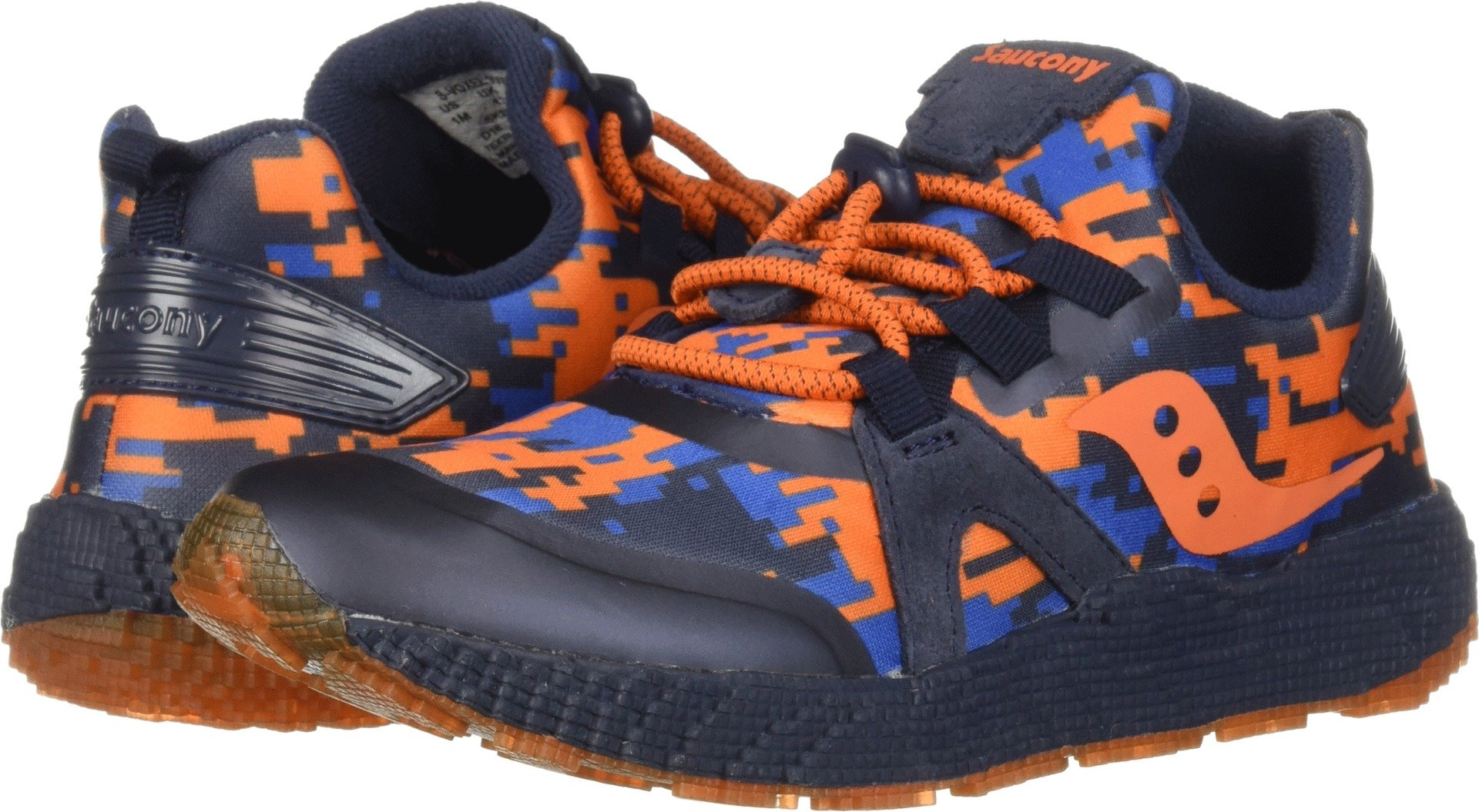 Saucony Kids  Boy's Voxel 9000 (Little Kid/Big Kid) Navy/Orange 7 XW US Big Kid