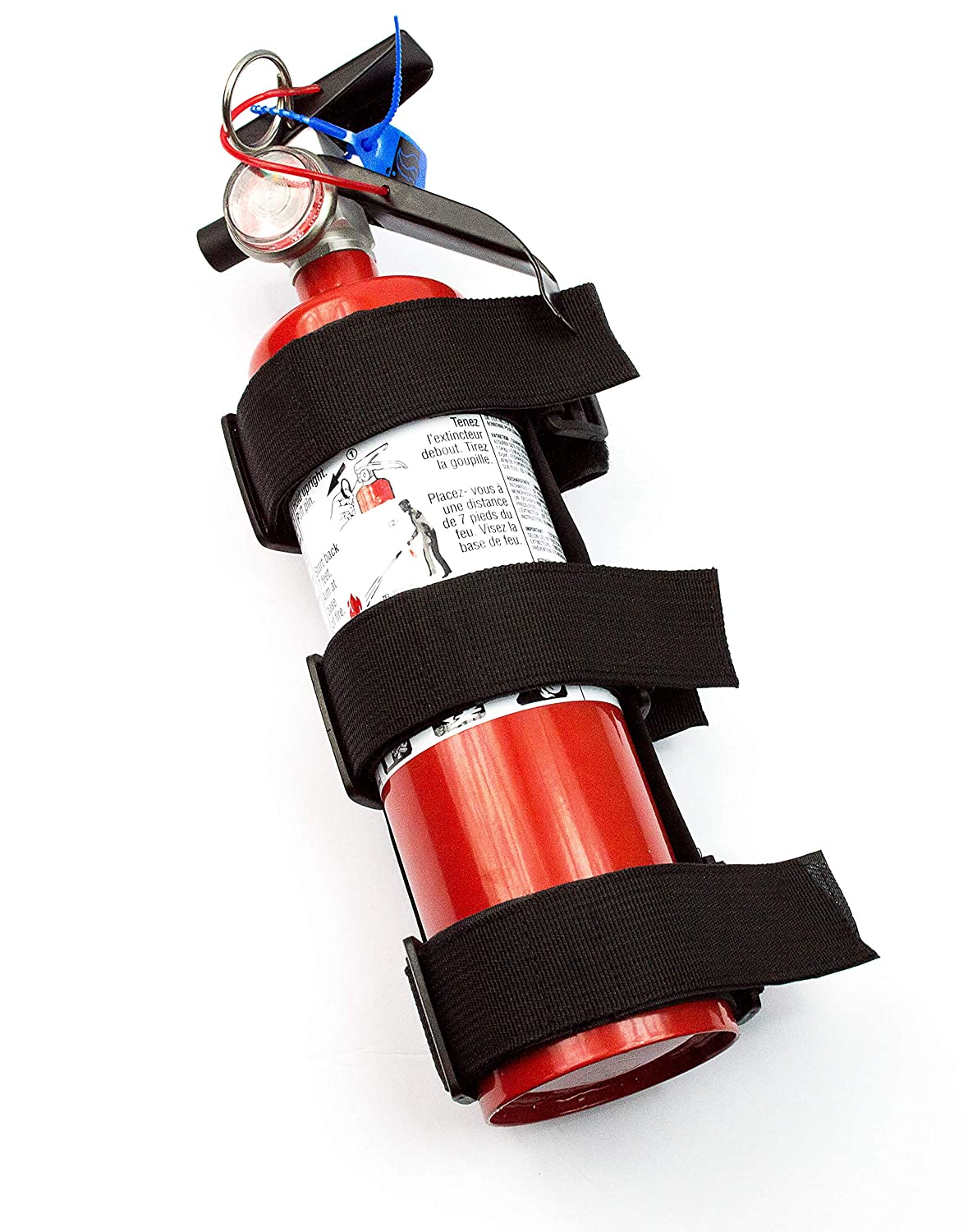 Suitable for Autos and Jeep Wrangler Metalware Solutions Ultra Strong Fire Extinguisher Adjustable Holder Roll Bar Mounted