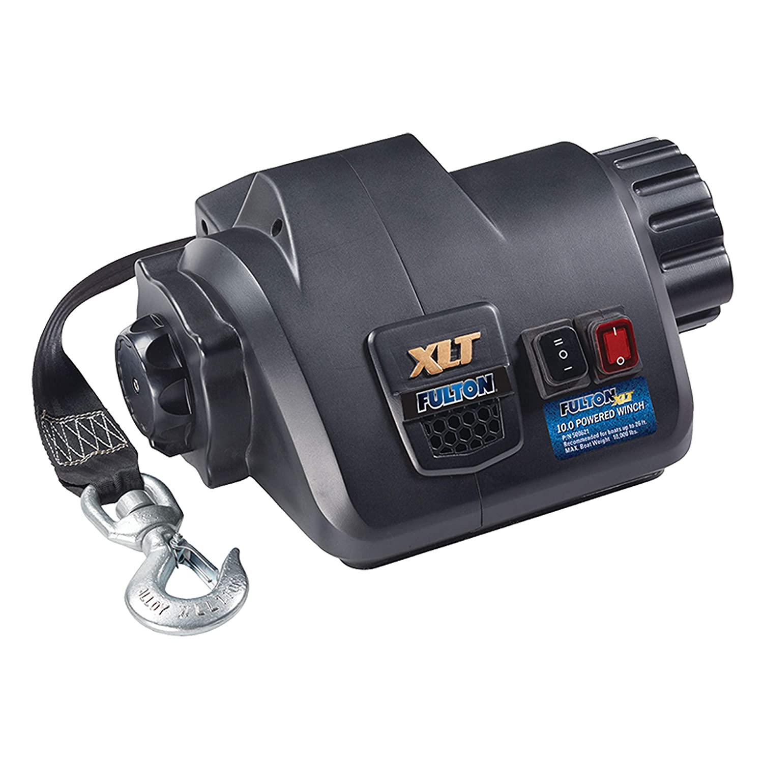 Fulton 500621 XLT Powered Winch with Wireless Remote-10,000 Lbs Capacity