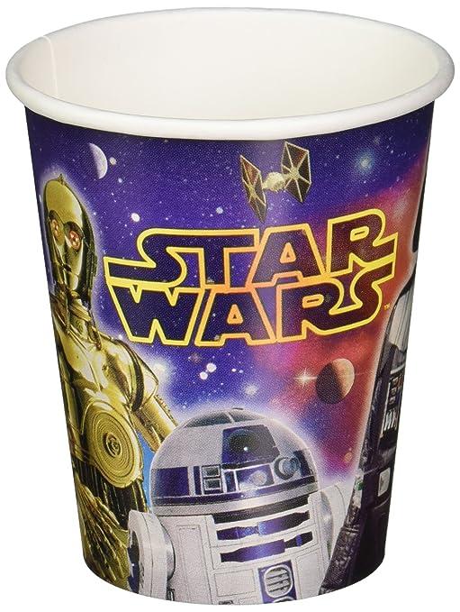 Amazon.com: star wars 9oz vasos de papel [8 por paquete ...