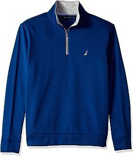Nautica Mens Solid 1/4 Zip Fleece Sweatshirt