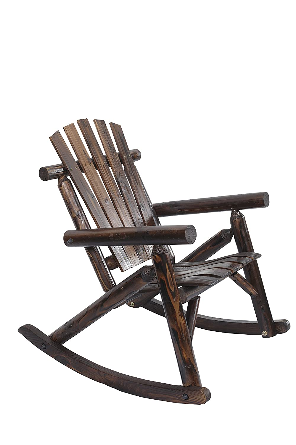 Amazon.com: American Furniture Classics Log Rocking Chair, Burnt: Kitchen U0026  Dining