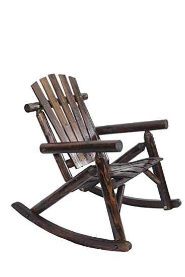 Amazon.com: American Furniture Classics Log Rocking Chair, Burnt ...