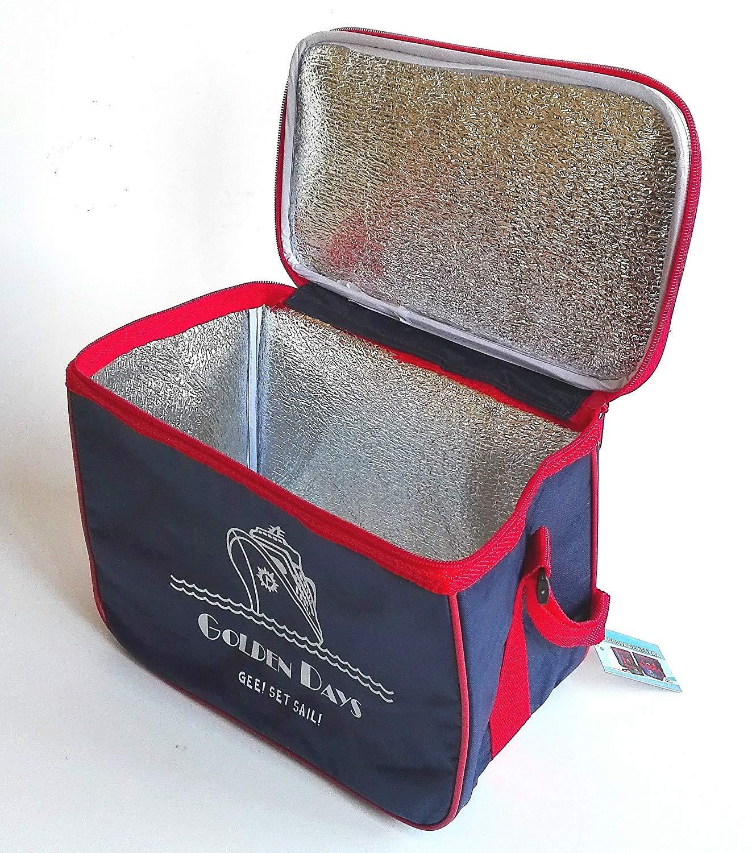 Impermeable Ligera para conservar el fr/ío EUROXANTY/® Nevera Isot/érmica port/átil Nevera Golden Days
