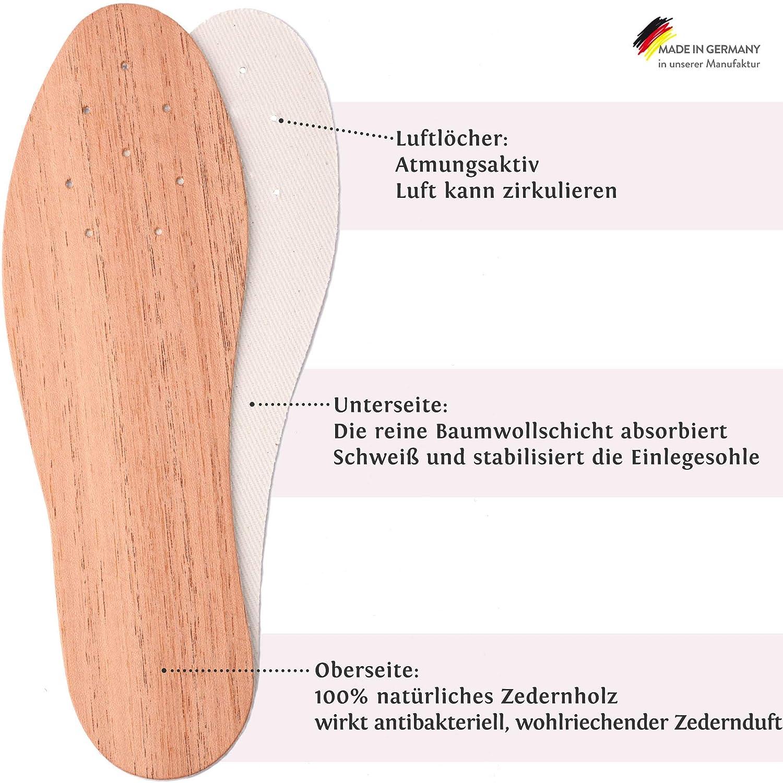 Einlagen helfen gegen Fu/ßpilz zedersan 1 Paar Zedernholzsohlen gegen Schwei/ßf/ü/ße Zedernsohlen sind nat/ürlich sowie antibakteriell Fu/ßgeruch und Schuhgeruch Frischesohlen Barfu/ßsohlen