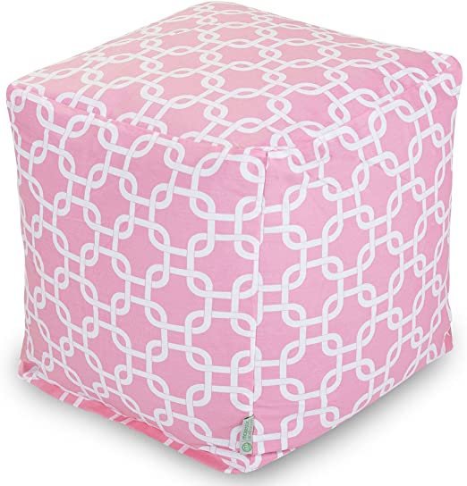 Pink Indoor//Outdoor Square Bean Bag Indoor//Outdoor Kids