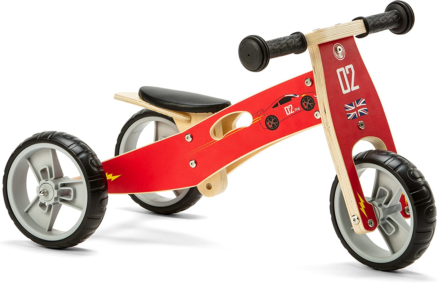 Nicko NIC811 Triciclo de Madera, Rosso, Large, One Size