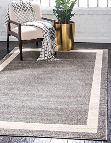 Deal of the week: Unique Loom Del Mar Collection Contemporary Transitional Gray Area Rug 7' 0 x 10' 0