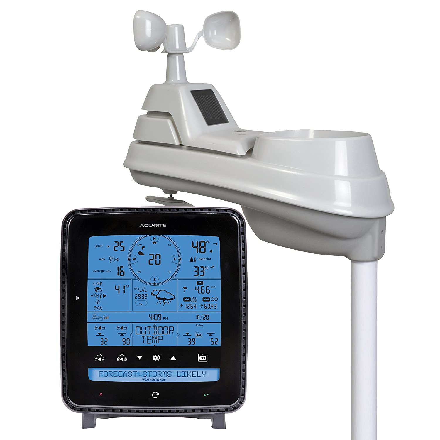 Amazon.com: AcuRite 01500 Wireless Weather Station with Wind and Rain  Sensor: Home & Kitchen - Amazon.com: AcuRite 01500 Wireless Weather Station With Wind And