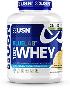 USN Supplements Bluelab 100 Percent Whey, Vanilla, 4.5 Pound