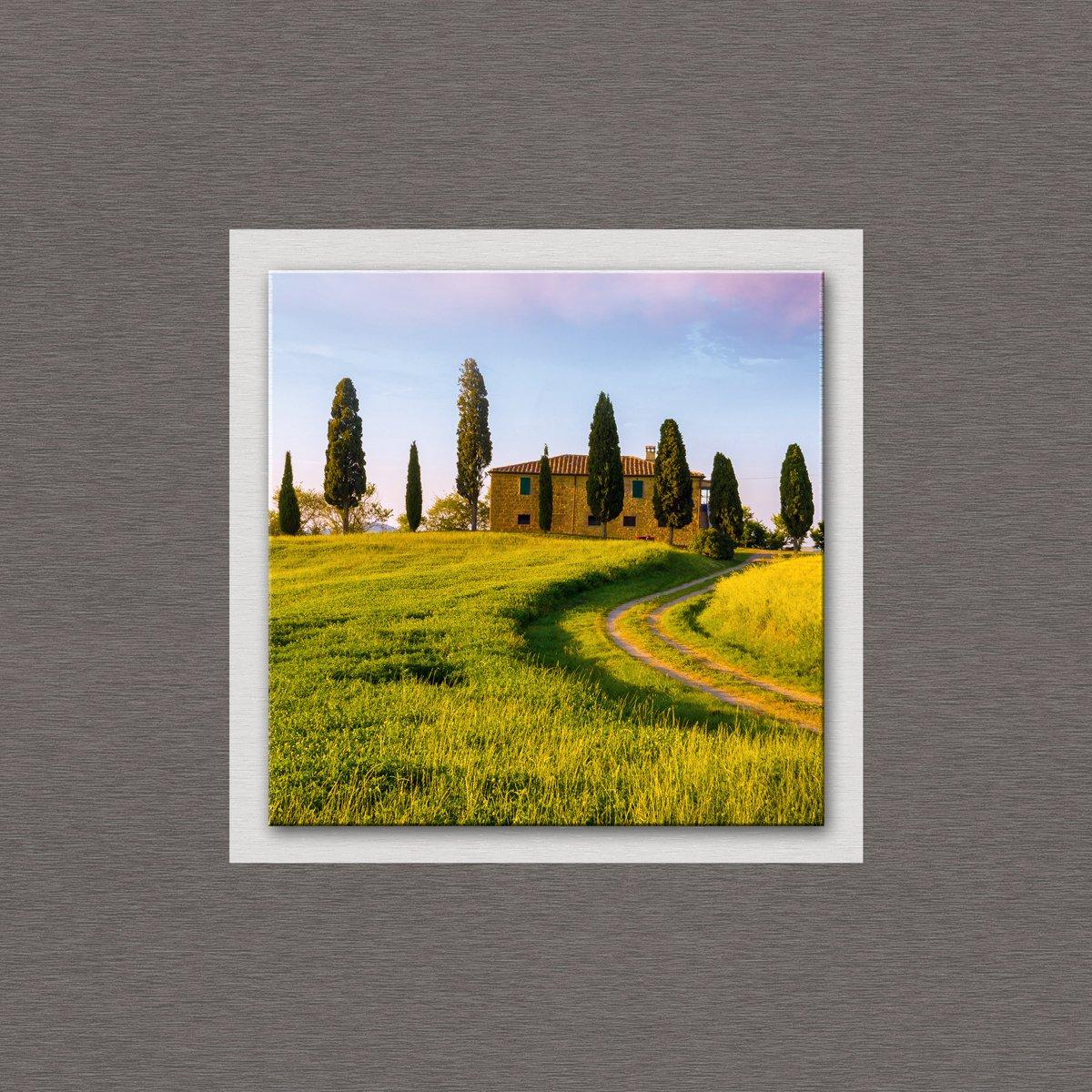 Eurographics TLG-DT50065 Tuscan Farmhouse TopLabel Glas 50 x 50 x 3,5 cm, grün