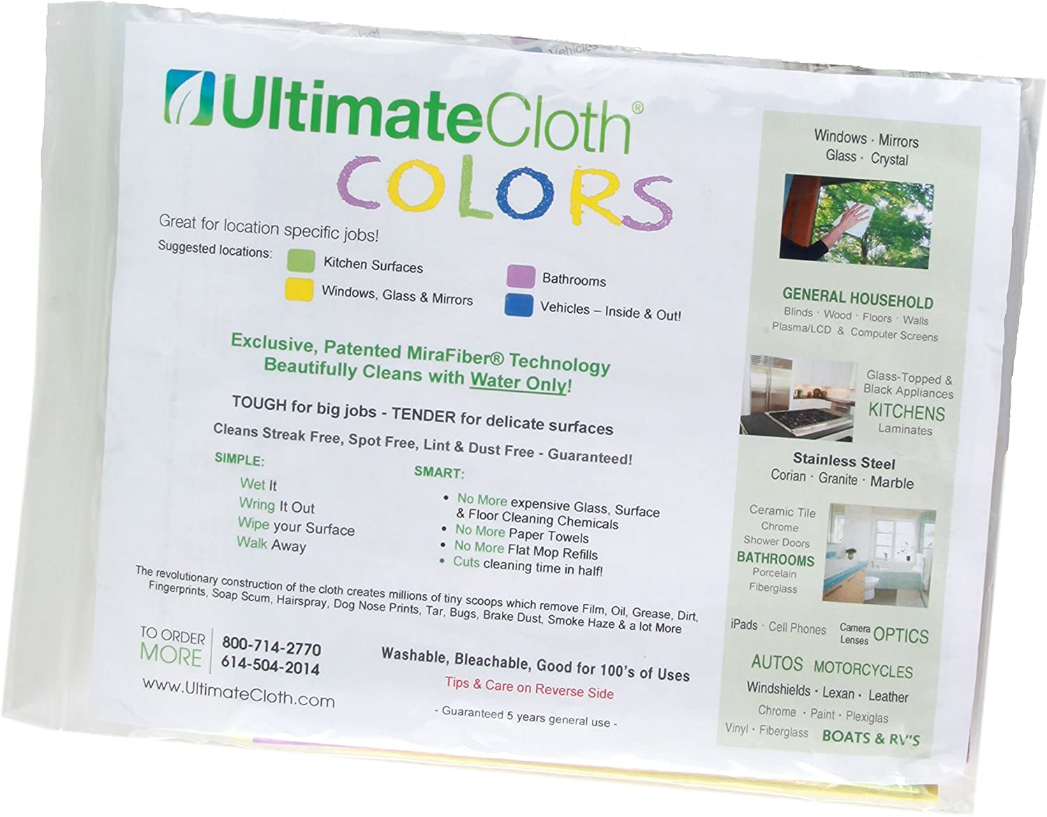 ULTIMATE  CLOTH  MiraFiber STREAK FREE LINT and DUST FREE NO Scratches