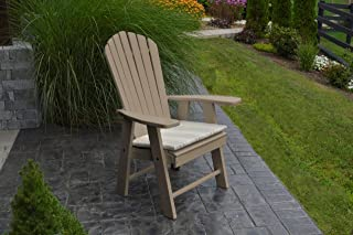 product image for Poly Upright Adirondack Chair - Weather Wood