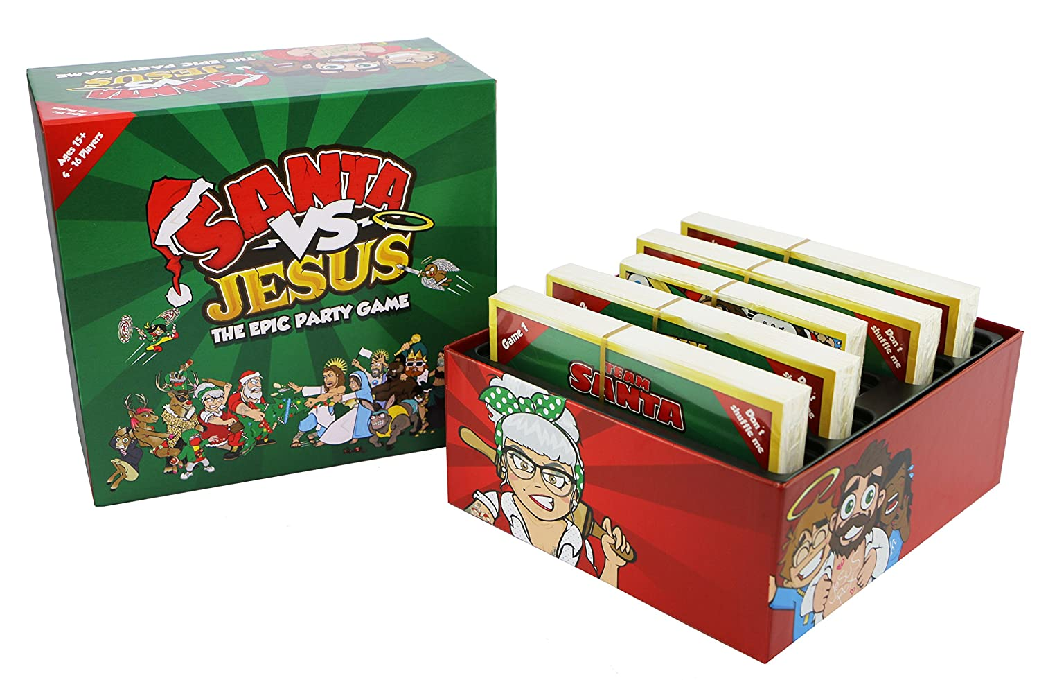 santa vs jesus the epic christmas party card game for families