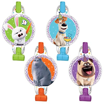 """""""The Secret Life Of Pets 2"""" Assorted Color Party Favor Blowouts, 8 Ct.: Toys & Games"""