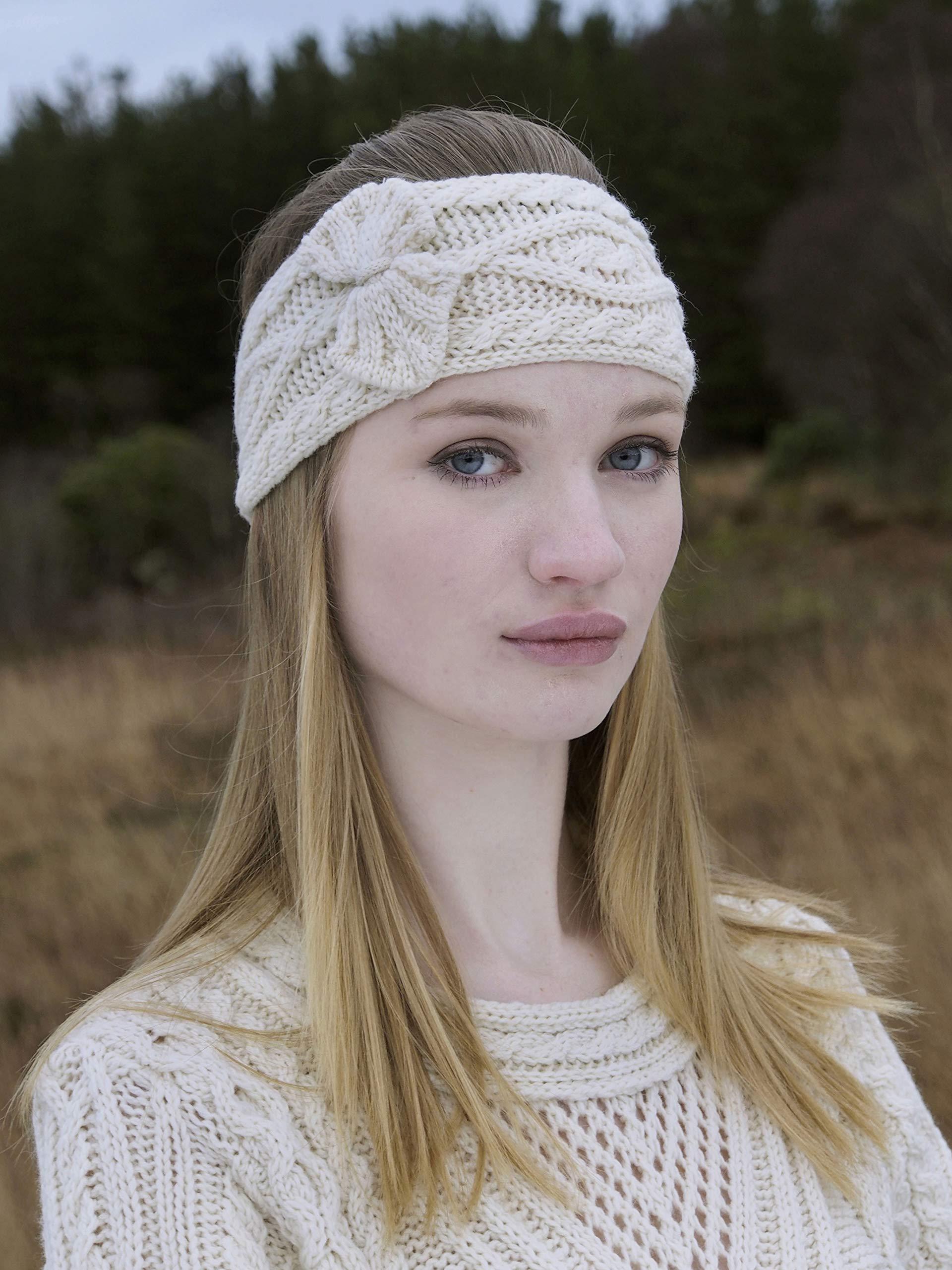 Aran Crafts Headband (100% Merino Wool) One Size Natural (X4341-NAT) by Aran Crafts Ireland (Image #3)