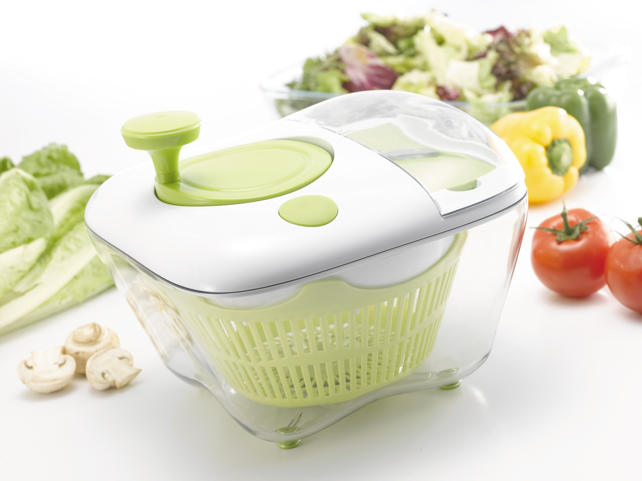 Chef's Star Multi-Function All In One Salad Spinner with Grater by Chef's Star