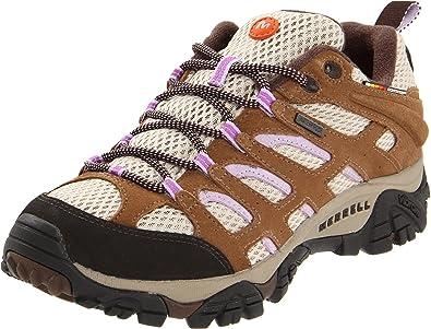 Merrell MOAB WATERPROOF J89496 - Zapatillas de deporte de cuero para mujer, color marrón, talla 38.5: Amazon.es: Zapatos y complementos