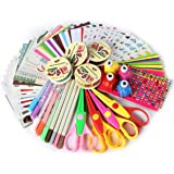 SICOHOME Scrapbook Kit,Scrapbooking Supplies for Teen Girls Scrapbooking and Card Making,Deluxe Set