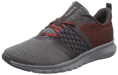 2ce06f024e8 Reebok Men s Print Lite Rush Running Shoes Noir gris Fonc  Blanc Grey (