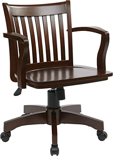 OSP Home Furnishings Deluxe Wood Bankers Desk Chair