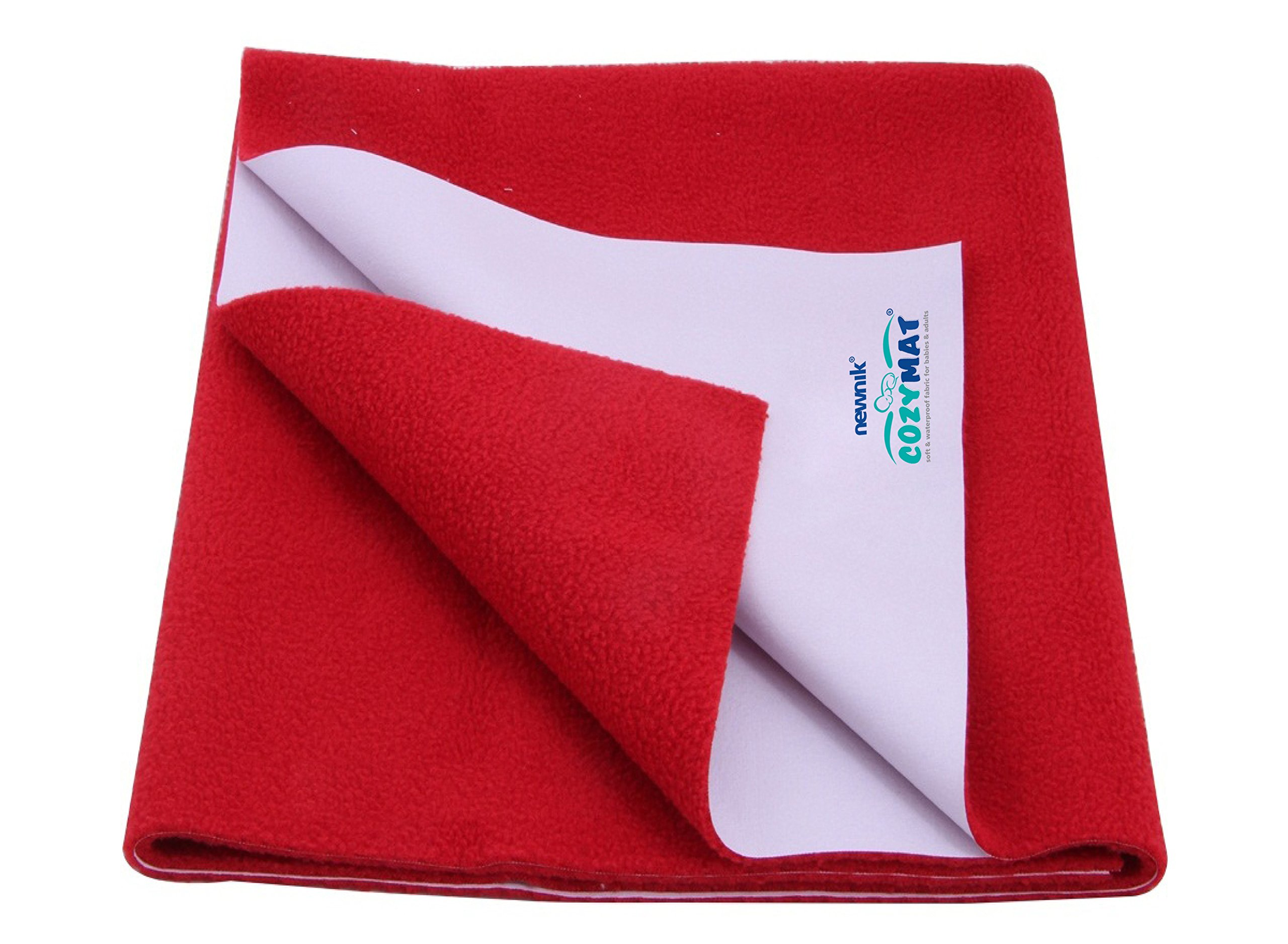 Cozymat Dry Sheet Waterproof Breathable Bed Protector (Size: 70cm X 100cm) Cherry Red, Medium by cozymat