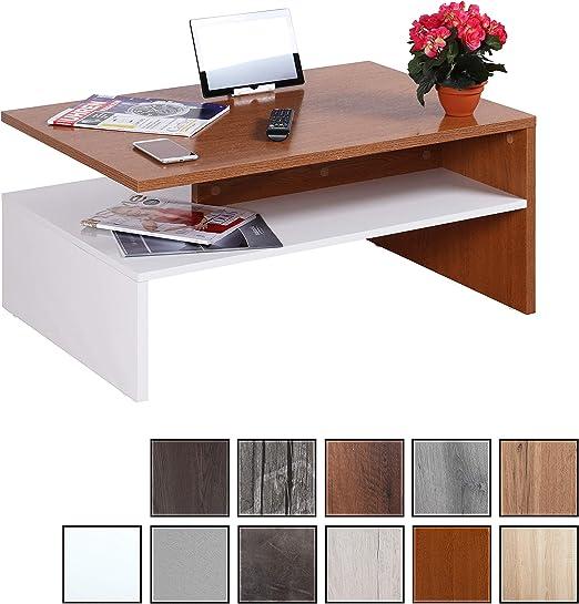RICOO WM080 W-ER, Mesa Centro salón, 90x41,5x59,5cm, Mueble ...