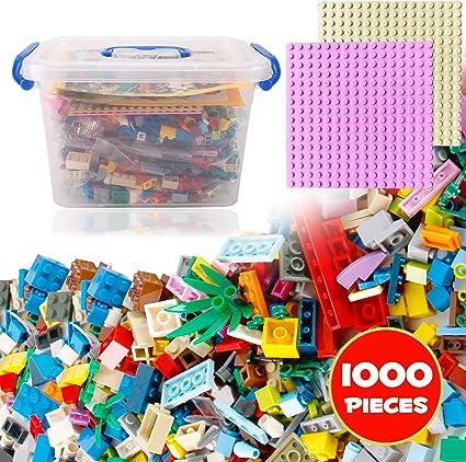 Mixed Colors LEGO Bulk Lot of 100 Transparent Small Bricks and Plates specials