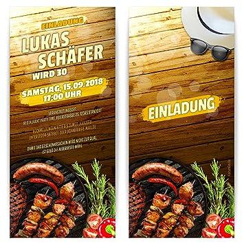 Toll Einladung Zur Grillparty Grillfest Grillen BBQ Barbecue Party  Einladungskarten, 40 Stk.