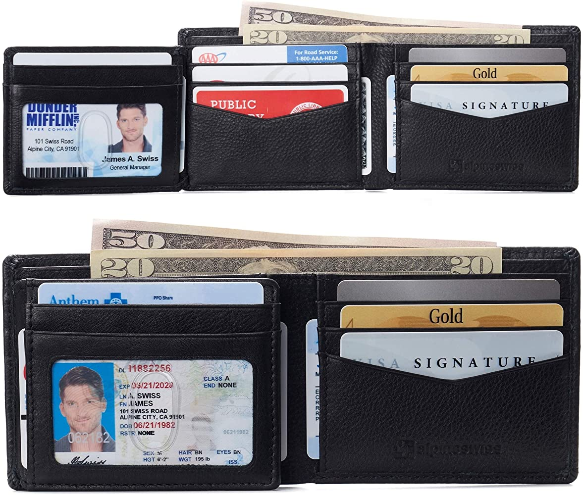 New Quality Men//Gents Cow Nappa Leather Trifold Stylish Wallet Credit Card Coin