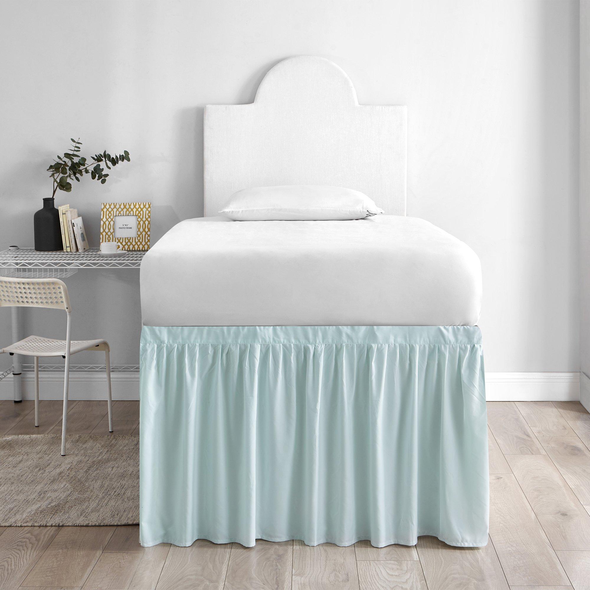 DormCo Bed Skirt Twin XL (3 Panel Set) - Hint of Mint