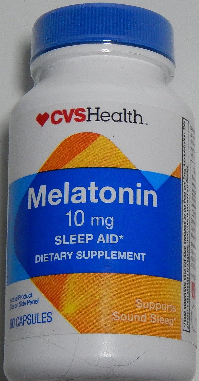 Amazon.com: CVS Health 10mg Melatonin Sleep Aid, 1 Bottle of 60 Capsules: Health & Personal Care