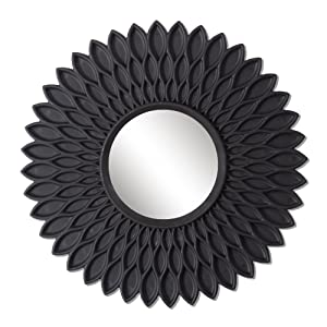 Art Street 'Hive Decorative' Wall Mirror (Plastic, 75 cm x 22 cm x 2 cm, Black)