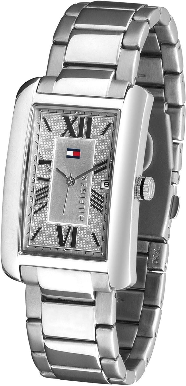 Tommy Hilfiger 1710258 - Reloj de caballero de cuarzo, correa de acero inoxidable color plata