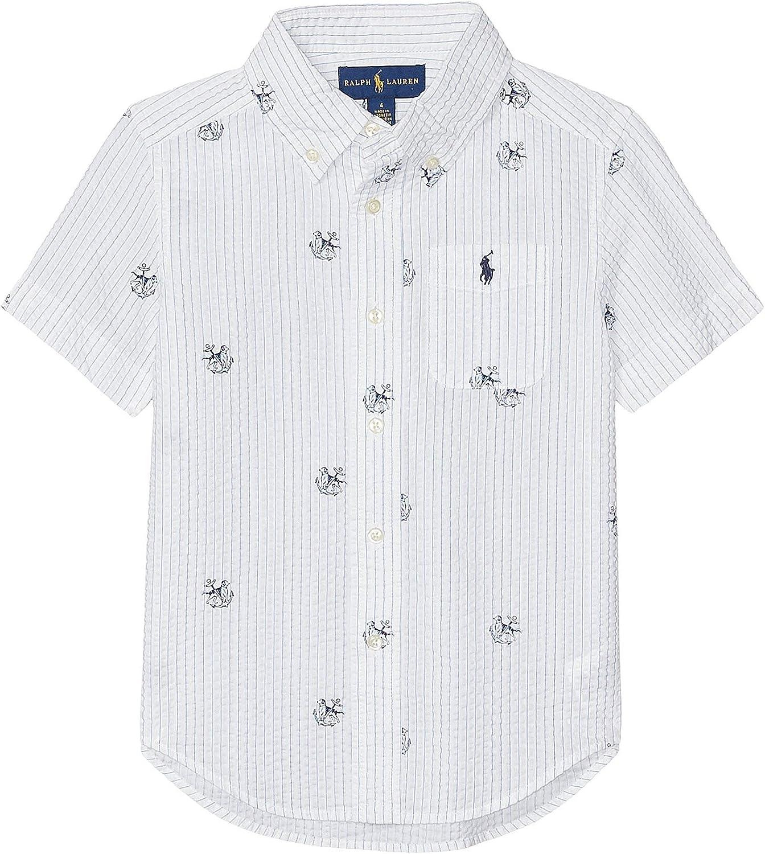Amazon Com Polo Ralph Lauren Kids Boy S Cotton Seersucker Shirt