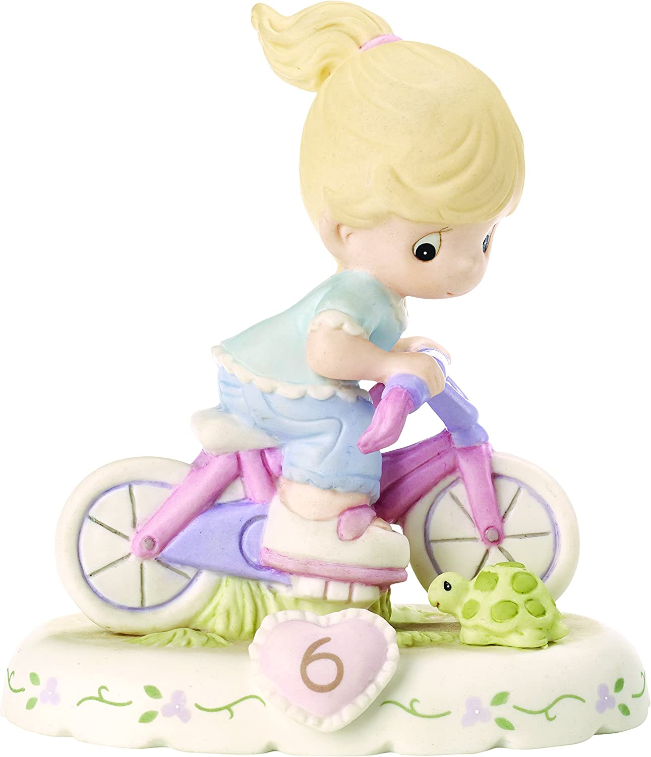 Precious Moments 152012 Growing In Grace Age 6 Girl Bisque Porcelain Figurine  Blonde