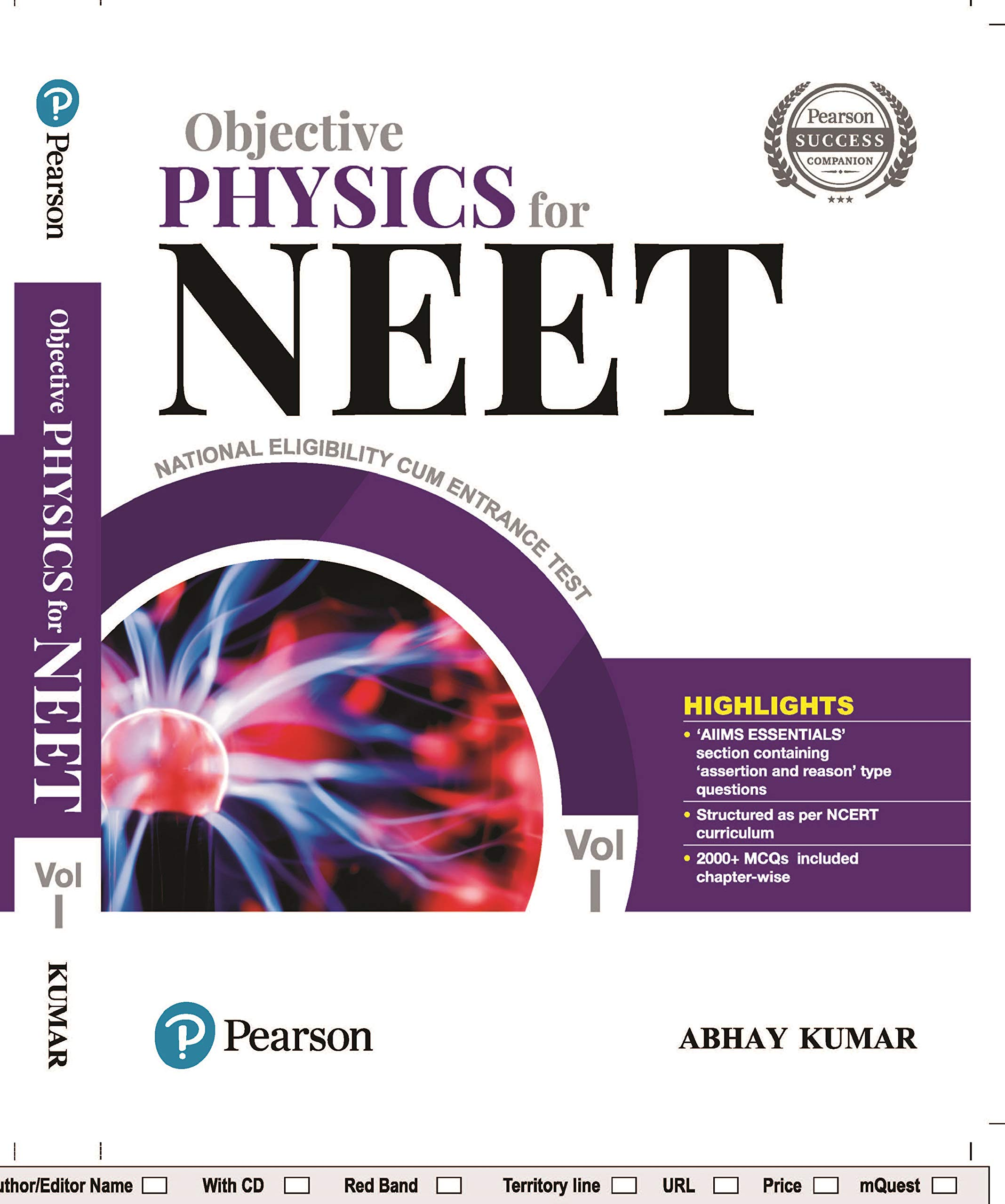 Buy Objective Physics for NEET by Pearson - Vol  1 Book