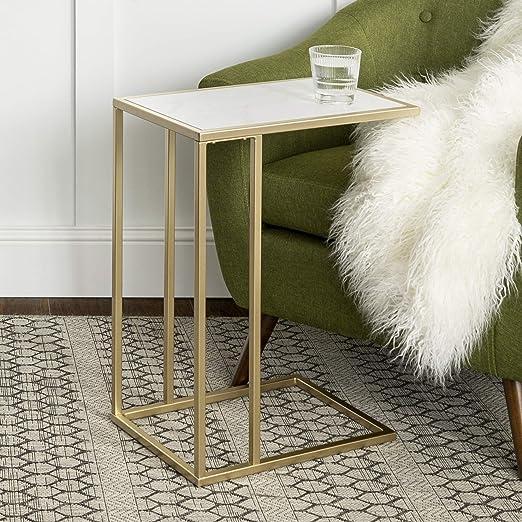 Amazon.com: WE Furniture Modern Round Coffee Accent - Mueble ...