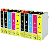 ACL 10 PK T200XL Compatible Ink Cartridge for EPSON T200 (4 Black, 2 Cyan, 2 Magenta, 2 Yellow)Expression Home XP-200,Expression Home XP-300,Expression Home XP-400,WorkForce WF-2530,WorkForce WF-2540