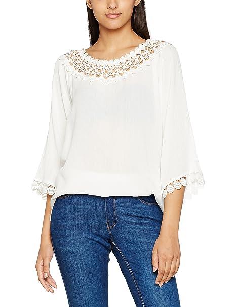 FreeQuent SISA-BL, Blusa para Mujer, Marfil (Offwhite), 40 (