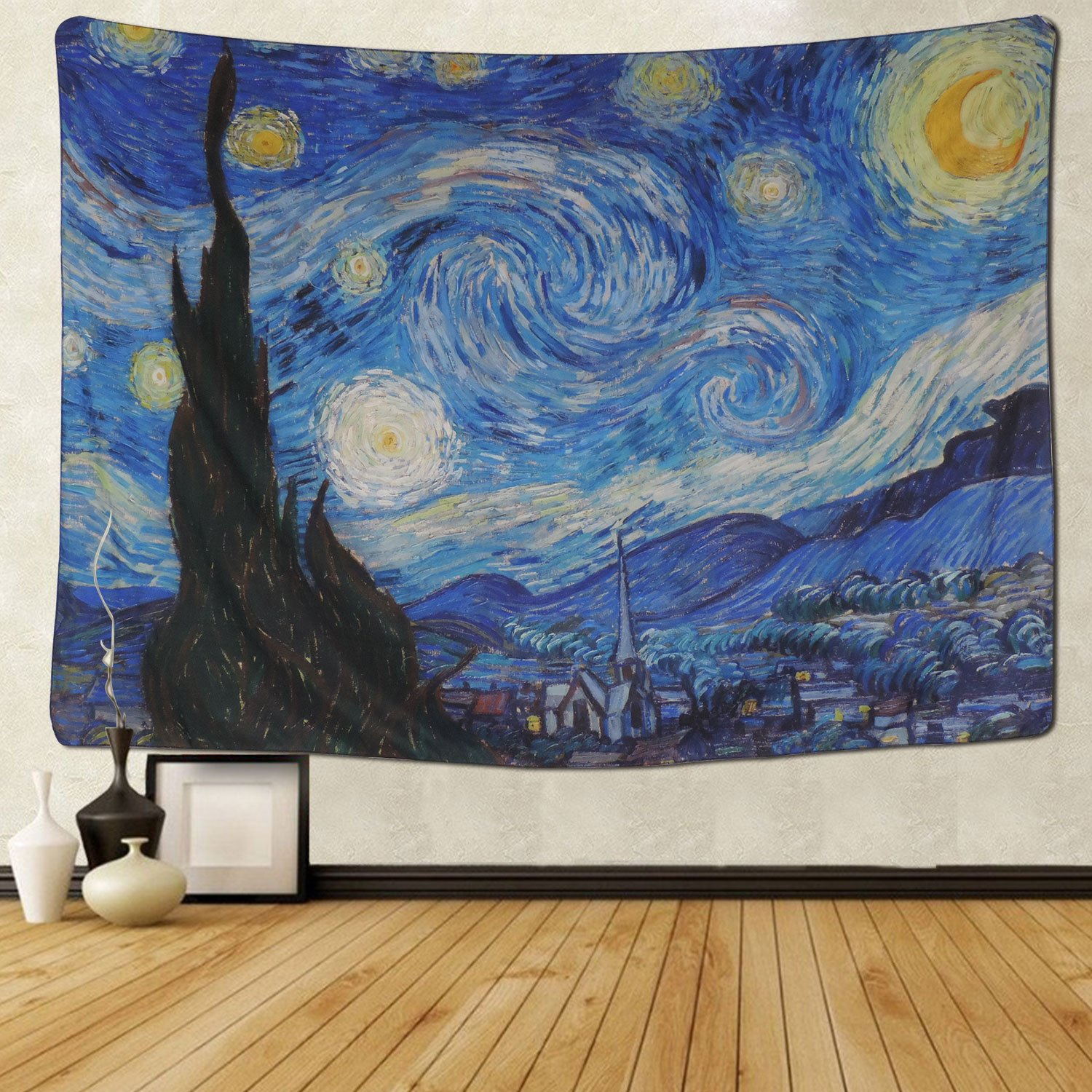 BLEUM CADE Tapestry Wall Hanging Wall Tapestry Hippie Galaxy Tapestry Starry Night Tapestry Mandala Bohemian Tapestry Living Room Bedroom Space Decor